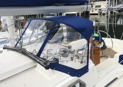Sail Boat Dodger (3 Windows)