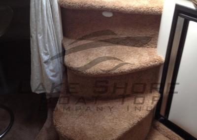 Interior Plush Carpet Custom Steps