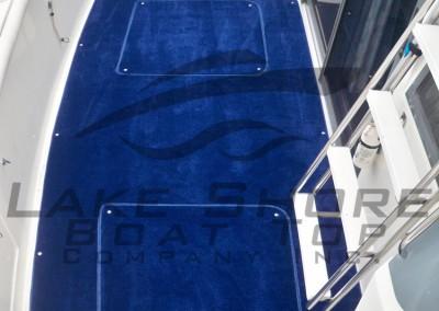 Marine Blue Plush Cockpit Carpet with 2 Hatch Openings