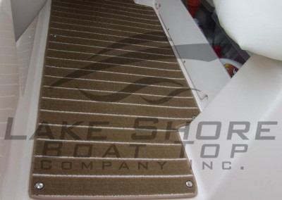 Marine Teak - Cockpit Carpet in Helm Area