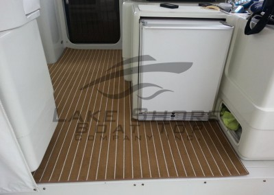 Marine Teak Snap In Cockpit Carpet - 11 Meter Trojan