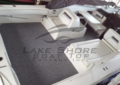 Silver Mist Grey Marine Berber Snap In Cockpit Carpet