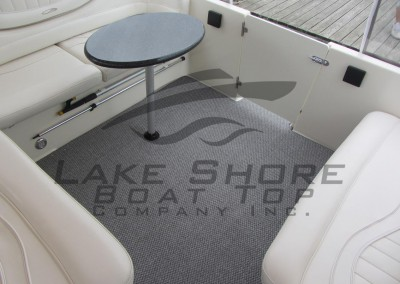 Silver Mist Marine Bereber Full Cockpit Carpet with Table Opening