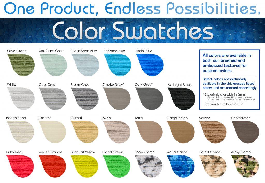 SeaDek Color Swatches